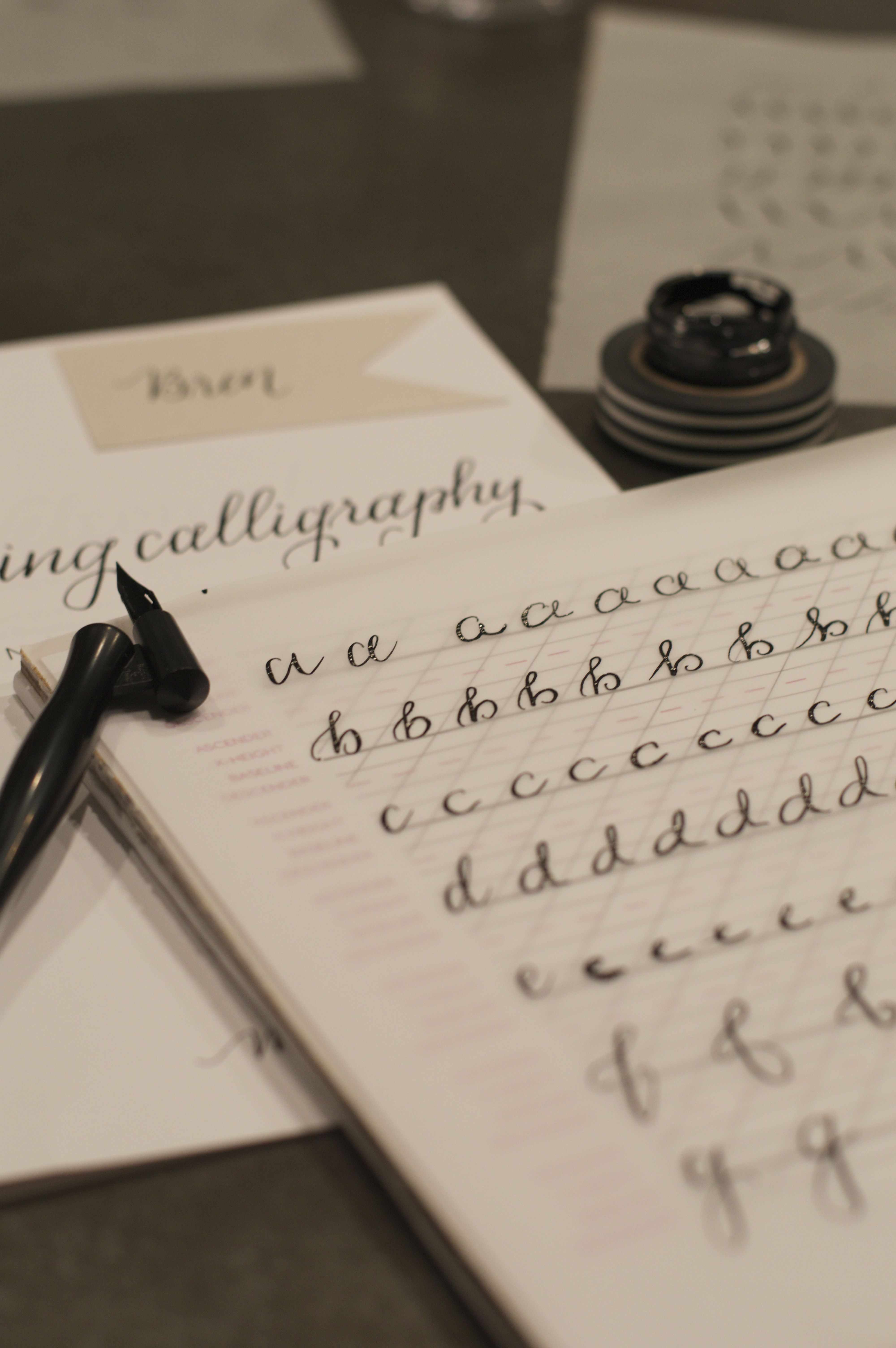 Calligraphy 101 must bring buns Calligraphy 101